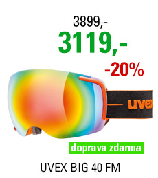 UVEX BIG 40 FM orange/mir rainbow clear S5504416026