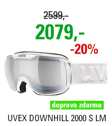 UVEX DOWNHILL 2000 S LM white dl/ltm silver clear S5504381026