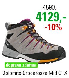 Dolomite Crodarossa Mid GTX Women Pewter Grey/Pansy Purple