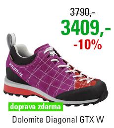 Dolomite Diagonal GTX Women Pansy Purple/Hibiscus Red