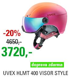 UVEX HLMT 400 VISOR STYLE pink-orange met mat S566215900 18/19