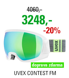UVEX CONTEST FM white mat dl/mir green clear S5501331026