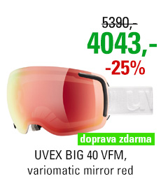 UVEX BIG 40 VFM, white mat/variomatic mirror red S5504401023