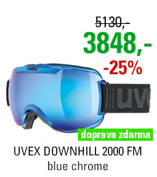 UVEX DOWNHILL 2000 FM CHROME blue chrome S5501124026