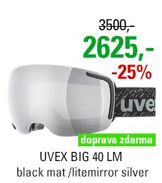 UVEX BIG 40 LM black mat /litemirror silver S5504422026
