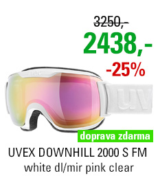 UVEX DOWNHILL 2000 S FM white dl/mir pink clear S5504371026