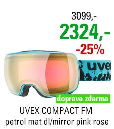 UVEX COMPACT FM petrol mat dl/mirror pink rose S5501307030
