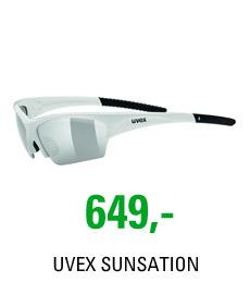 UVEX SUNSATION, WHITE BLACK/SILVER