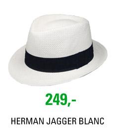 Klobouk HERMAN JAGGER 006 BLANC