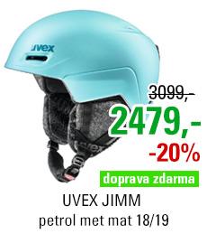 UVEX JIMM petrol met mat S566206410 18/19