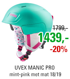 UVEX MANIC PRO mint-pink met mat S566224790 18/19