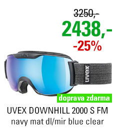 UVEX DOWNHILL 2000 S FM navy mat dl/mir blue clear S5504374026