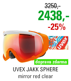 UVEX JAKK SPHERE white-orange mat/mir red clear S5504321326