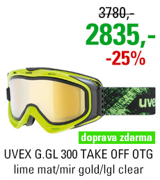 UVEX G.GL 300 TAKE OFF OTG lime mat/mir gold/lgl clear S5502137026
