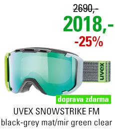 UVEX SNOWSTRIKE FM black-grey mat/mir green clear S5504192526