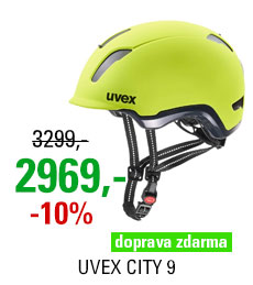 UVEX HELMA CITY 9, NEON YELLOW