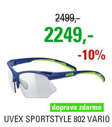 UVEX BRÝLE SPORTSTYLE 802 VARIO, BLUE GREEN MAT