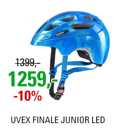 UVEX HELMA FINALE JUNIOR LED, BLUE (51-55)