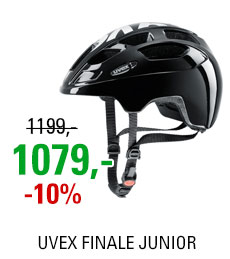 UVEX HELMA FINALE JUNIOR, BLACK-WHITE 2018