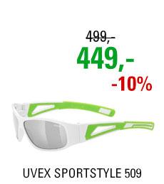 UVEX BRÝLE SPORTSTYLE 509 WHITE GREEN