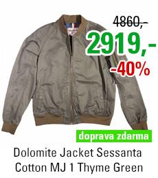 Dolomite Jacket Sessanta Cotton MJ 1 Thyme Green