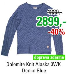Dolomite Knit Alaska 3WK Denim Blue