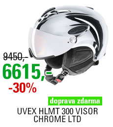 UVEX HLMT 300 VISOR CHROME LTD silver S566214190 17/18