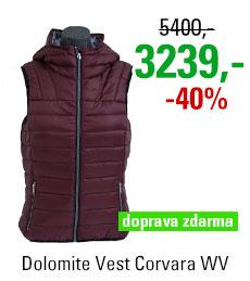 Dolomite Vest Corvara WV Burgundy Red