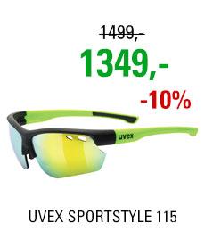 UVEX SPORTSTYLE 115, BLACK MAT YELLOW