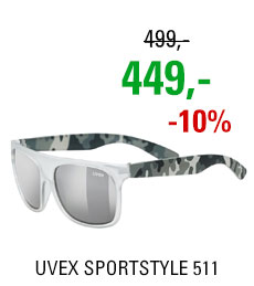 UVEX BRÝLE SPORTSTYLE 511, WHITE TRANSPARENT CAMO