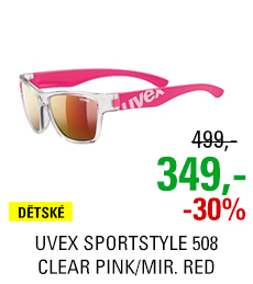 UVEX SPORTSTYLE 508 CLEAR PINK/MIR. RED