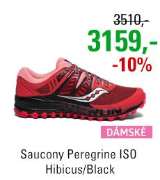 Saucony Peregrine ISO Hibicus/Black