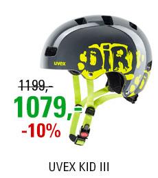 UVEX KID III, DIRTBIKE GREY-LIME 2019