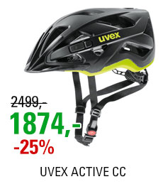 UVEX HELMA ACTIVE CC, BLACK-YELLOW MAT 2019