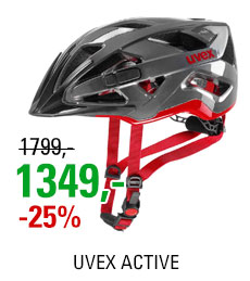 UVEX ACTIVE, ANTRACITE RED 2019