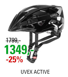 UVEX ACTIVE, BLACK SHINY 2019