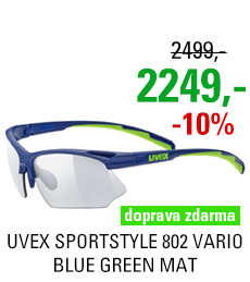 UVEX BRÝLE SPORTSTYLE 802 VARIO, BLUE GREEN MAT