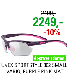 UVEX BRÝLE SPORTSTYLE 802 SMALL VARIO, PURPLE PINK MAT