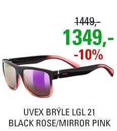 UVEX BRÝLE LGL 21, BLACK ROSE/MIRROR PINK