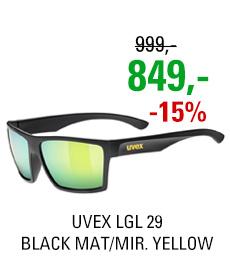 UVEX LGL 29, BLACK MAT/MIR. YELLOW
