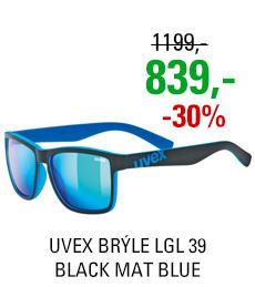UVEX BRÝLE LGL 39, BLACK MAT BLUE