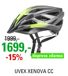 UVEX XENOVA CC, DARK SILVER GREEN-MAT