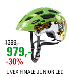 UVEX FINALE JUNIOR LED, GREEN PIRATE 2019
