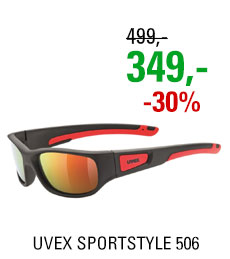 UVEX SPORTSTYLE 506 BLACK MAT RED/MIR RED
