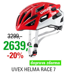 UVEX HELMA RACE 7, RED WHITE 2019