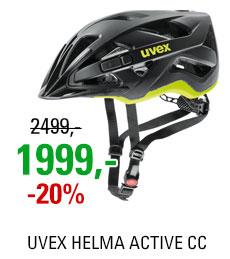 UVEX HELMA ACTIVE CC, BLACK-YELLOW MAT 2019