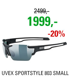 UVEX BRÝLE SPORTSTYLE 803 SMALL CV (ColorVision), BLACK MAT