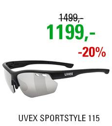 UVEX SPORTSTYLE 115, BLACK MAT