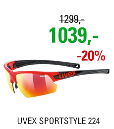 UVEX BRÝLE SPORTSTYLE 224, RED BLACK