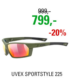 UVEX BRÝLE SPORTSTYLE 225, OLIVE GREEN MAT